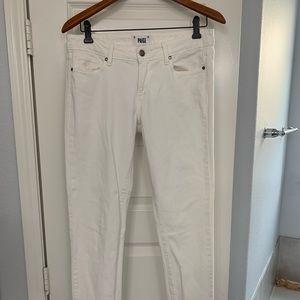 PAIGE white Peg Skinny jeans in size 29